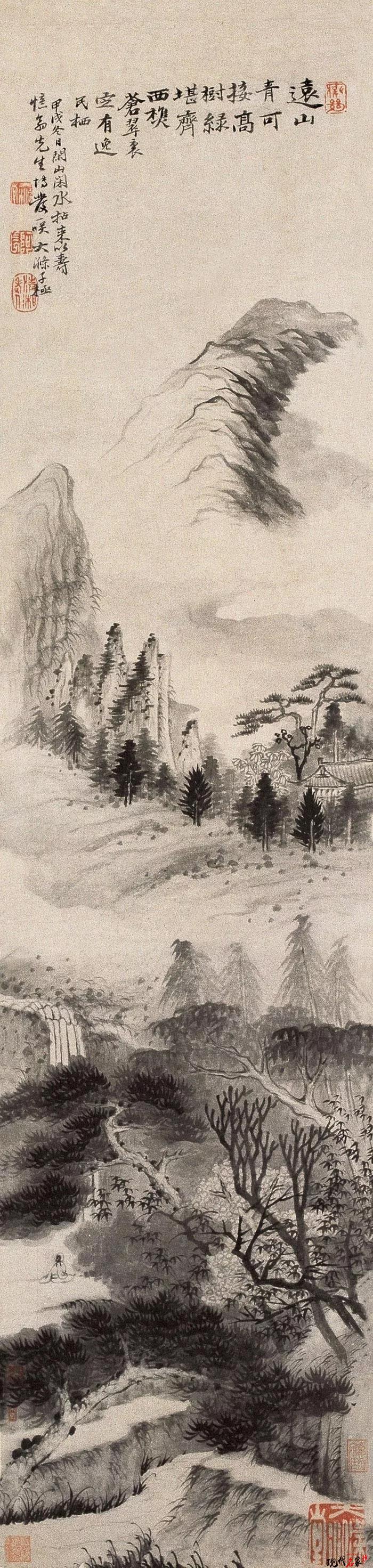 苦瓜和尚山水画,三大艺术贡献-第5张